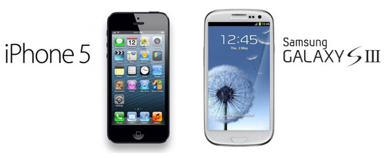 iPhone 5 mi – Samsung Galaxy 3 mü ?