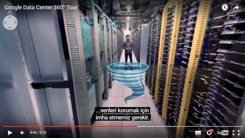 google veri merkezi 360 video